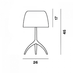Foscarini - Lumiere - Lumiere TL L - Table lamp L with dimmer