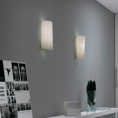 Foscarini - Mite - Kite AP - Nichel, cherry wood wall light