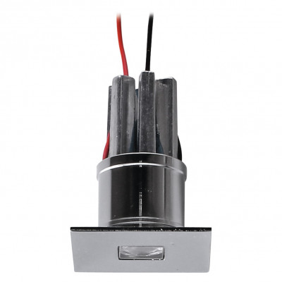i-LèD - Decorative - Viky - Recessed wall spotlight Viky-Q - powerLED 2 W 630 mA - Chrome - 92254 - Warm white - 3000 K - 8°