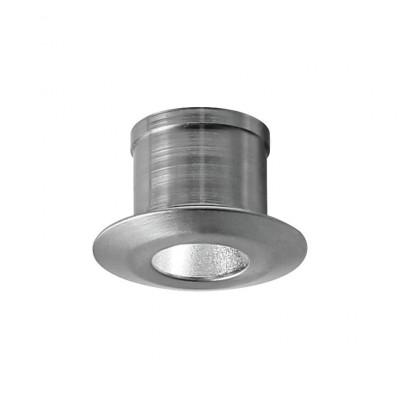 i-LèD - Decorative - Viky - Recessed wall spotlight Viky-R - powerLED 1 W 350 mA - Chrome - 92584 - Warm white - 3000 K - 8°