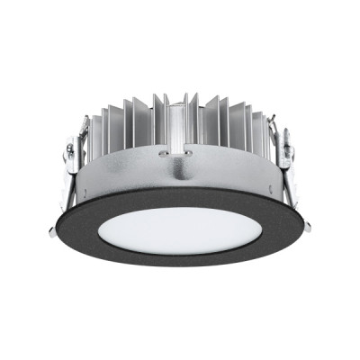 i-LèD - Downlights - LV54/HV54 - Recessed ceiling spotlight LV54-RS - topLED 13 W 350 mA - Black RAL 9005 embossed - Diffused
