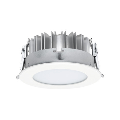 i-LèD - Downlights - LV54/HV54 - Recessed ceiling spotlight LV54-RS - topLED 13 W 350 mA  - White RAL 9003 embossed - 97090 - Super warm - 2700 K - Diffused