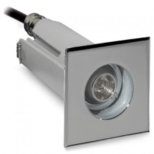 i-LèD - Outlet - Carriageable spotlight OTIX 8 QUADRO 1LED 2W C/ALIM.GRIGIO