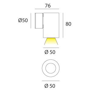 i-LèD - Outlet - Ophil Round - Single emission led wall applique