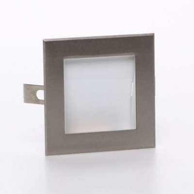 i-LèD - Wall - Zed - Recessed wall spotlight Zed-2 Asymmetric emission - topLED 2 W 350 mA  - Brushed nickel - 92657 - Cool white - 5000 K - 70°