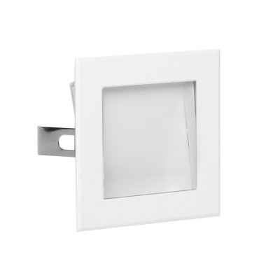 i-LèD - Wall - Zed - Recessed wall spotlight Zed-2 Asymmetric emission - topLED 2 W 350 mA  - White RAL 9003 embossed - 92658 - Cool white - 5000 K - 70°