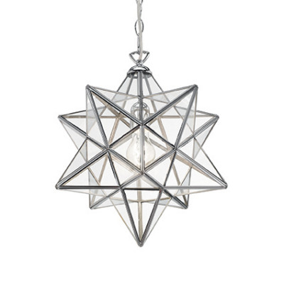 Ideal lux stella sp1 big star shaped metal lamp light shopping ideal lux art stella sp1 big star shaped metal chandelier chrome aloadofball Image collections
