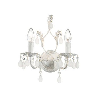 Ideal Lux - Baroque - Cascina AP2 - Finely decorated classic-style applique - Antique white - LS-IL-100296