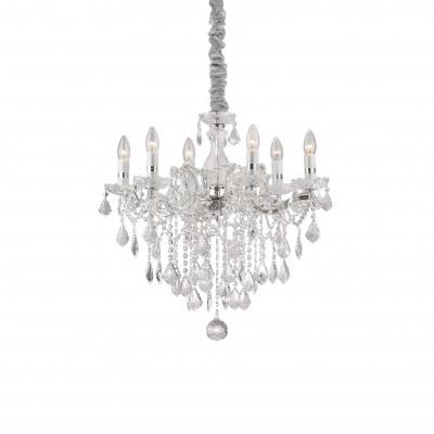 Ideal Lux - Baroque - FLORIAN SP6 - Pendant lamp - Chrome - LS-IL-035628