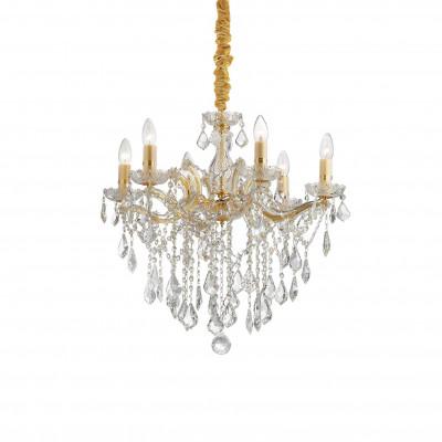 Ideal Lux - Baroque - FLORIAN SP6 - Pendant lamp - Gold - LS-IL-035635