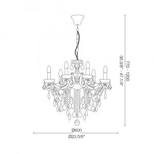Ideal Lux - Baroque - FLORIAN SP6 - Pendant lamp