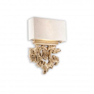 Ideal Lux - Baroque - PETER AP2 - Applique - Wood - LS-IL-075211