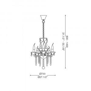 Ideal Lux - Baroque - TIEPOLO SP8 - Pendant lamp