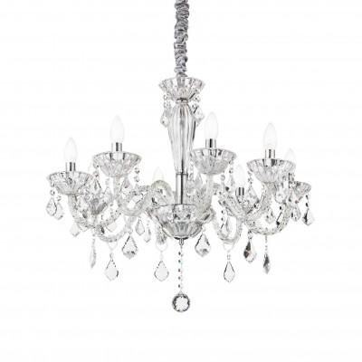 Ideal Lux - Baroque - TIEPOLO SP8 - Pendant lamp - Transparent - LS-IL-034720
