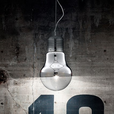Ideal Lux - Bulb - LUCE Cromo SP1 BIG - Pendant lamp