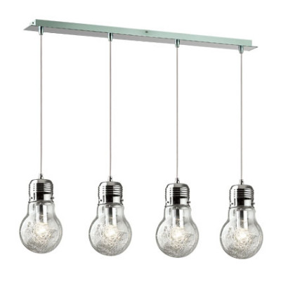 Ideal Lux - Bulb - LUCE MAX SB4 - Pendant lamp - Chrome - LS-IL-047799