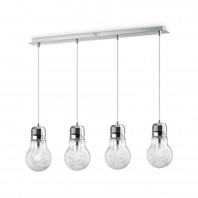 Ideal Lux - Bulb - LUCE MAX SB4 - Pendant lamp - Chrome - LS-IL-047799