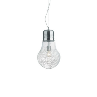 Ideal Lux - Bulb - LUCE MAX SP1 BIG - Pendant lamp - Chrome - LS-IL-033662