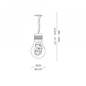 Ideal Lux - Bulb - LUCE MAX SP1 SMALL - Pendant lamp