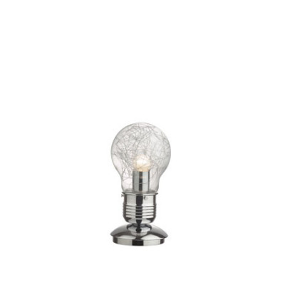 Ideal Lux - Bulb - LUCE MAX TL1 - Table lamp - Chrome - LS-IL-033686