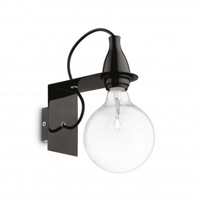 Ideal Lux - Bulb - MINIMAL AP1 - Wall lamp - Black - LS-IL-045214