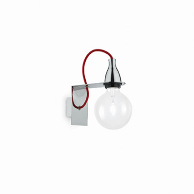 Ideal Lux - Bulb - MINIMAL AP1 - Wall lamp - Chrome - LS-IL-045207