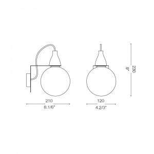 Ideal Lux - Bulb - MINIMAL AP1 - Wall lamp