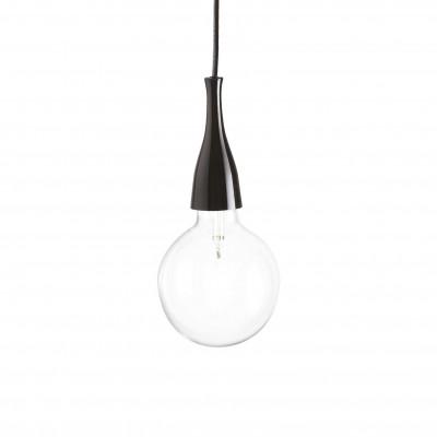 Ideal Lux - Bulb - MINIMAL SP1 - Pendant lamp - Black - LS-IL-009407