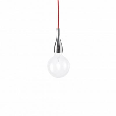 Ideal Lux - Bulb - MINIMAL SP1 - Pendant lamp - Chrome - LS-IL-009384