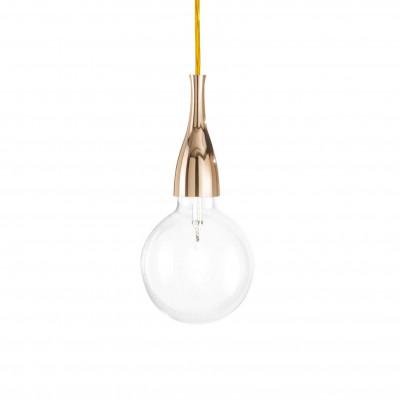 Ideal Lux - Bulb - MINIMAL SP1 - Pendant lamp - Gold - LS-IL-009391