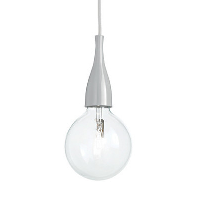 Ideal Lux - Bulb - MINIMAL SP1 - Pendant lamp - Grey - LS-IL-101118