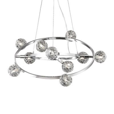 Ideal Lux - Bunch - ORBITAL SP10 - Pendant lamp - Chrome - LS-IL-073828