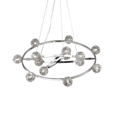 Ideal Lux - Bunch - ORBITAL SP14 - Pendant lamp - Chrome - LS-IL-073835