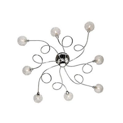 Ideal Lux - Bunch - PON PON PL8 - Ceiling lamp - Chrome - LS-IL-074665