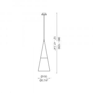Ideal Lux - Calice - CONO SP1 - Pendant lamp