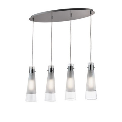 Ideal Lux - Calice - KUKY CLEAR SP4 - Pendant lamp - Transparent - LS-IL-023038
