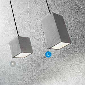 Ideal Lux - Cemento - Kool SP1 LED L - Modern concrete chandelier