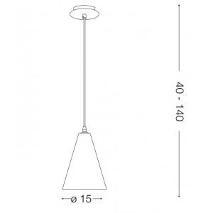 Ideal Lux - Cemento - Oil-2 SP1 - Pendant lamp