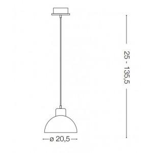 Ideal Lux - Cemento - Oil-5 SP1 - Pendant lamp