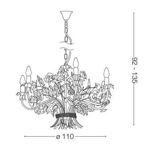 Ideal Lux - Chandelier - Camilla SP12 - Pendant lamp