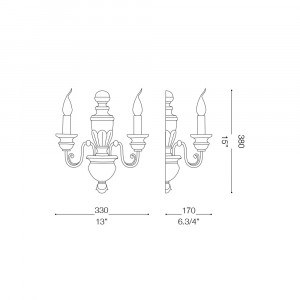 Ideal Lux - Chandelier - FIRENZE AP2 - Applique