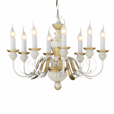 Ideal Lux - Chandelier - FIRENZE SP8 - Pendant lamp - Antique white - LS-IL-012872