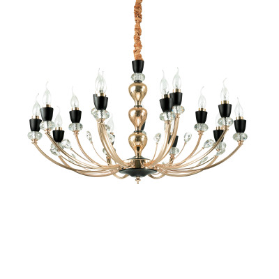 Ideal Lux - Chandelier - Vanity SP15 - Candelabra shape chandelier - None - LS-IL-206639