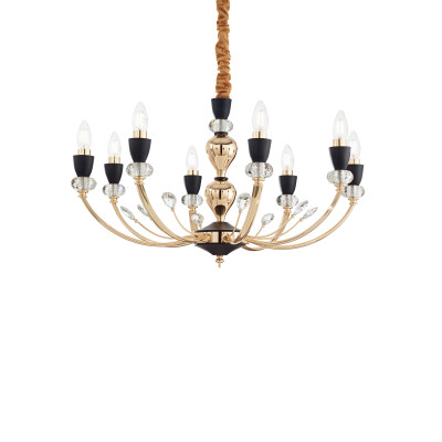 Ideal Lux - Chandelier - Vanity SP8 - Classic chandelier with eight lights - None - LS-IL-206622