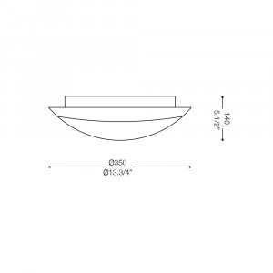 Ideal Lux - Circle - RING PL3 - Ceiling lamp
