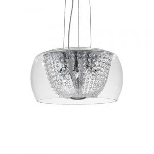 Ideal Lux - Diamonds - Audi-61 SP6 - Pendant lamp - Chrome - LS-IL-133874