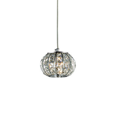Ideal Lux - Diamonds - CALYPSO SP1 - Pendant lamp - Chrome - LS-IL-044187