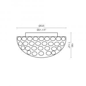Ideal Lux - Diamonds - KING PL9 - Ceiling