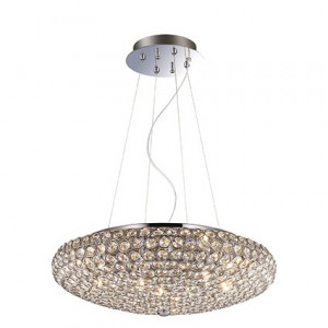 Ideal Lux - Diamonds - King SP7 - Elegant suspension lamp with crystals - Chrome - LS-IL-087979