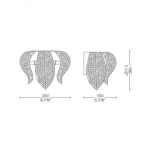 Ideal Lux - Diamonds - MOZART AP3 - Applique